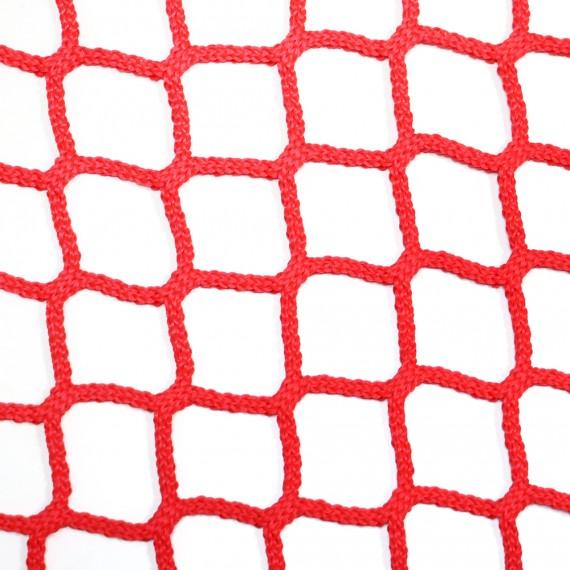 Filet d'habitation mailles tressées 50 mm rouge