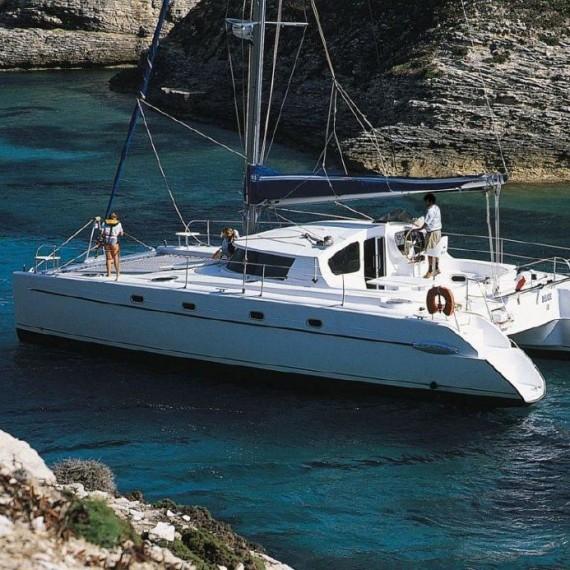 Trampoline for Belize 43 catamaran