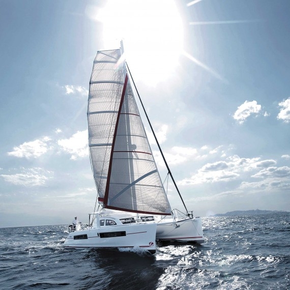 Trampoline net for CATANA 42 catamaran