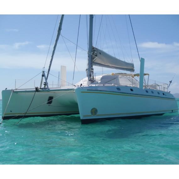 Trampoline net for Catana 44 catamaran