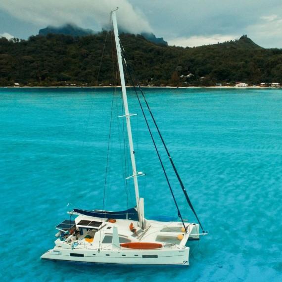 Trampoline for Catana 50 catamaran