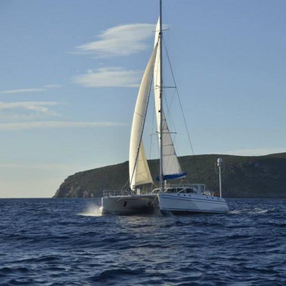 Trampoline for Catana 531 catamaran