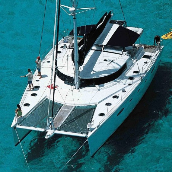 Trampoline for Eleuthera 60 catamaran
