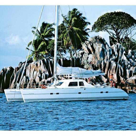 Trampolin für Lagoon 47-Katamaran