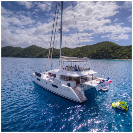 Trampoline for Lagoon 560 catamaran