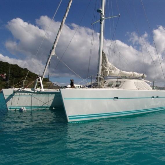 Trampoline for Lagoon 57 catamaran