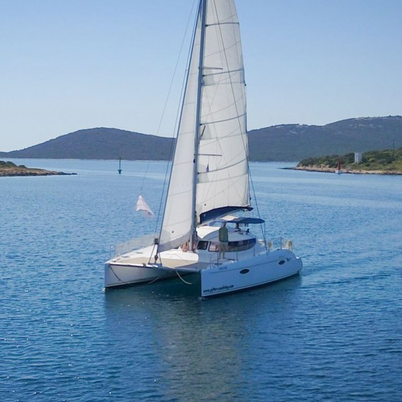 Trampoline for Lavezzi 40 catamaran