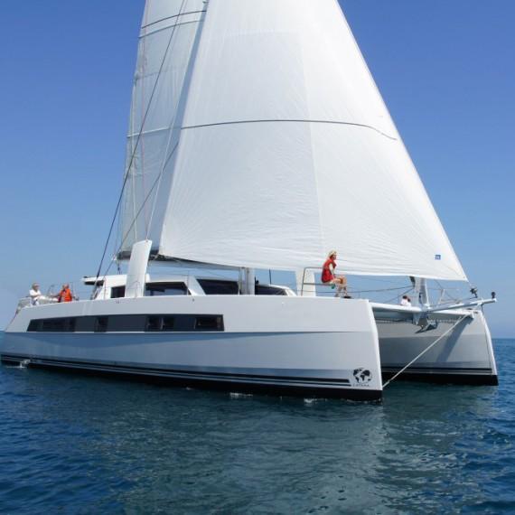 Trampoline for Catana 62 catamaran