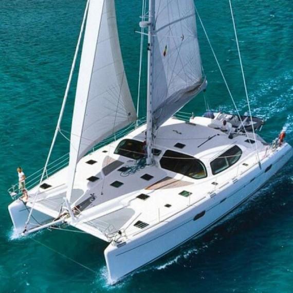 Trampoline for Privilège 585 catamaran