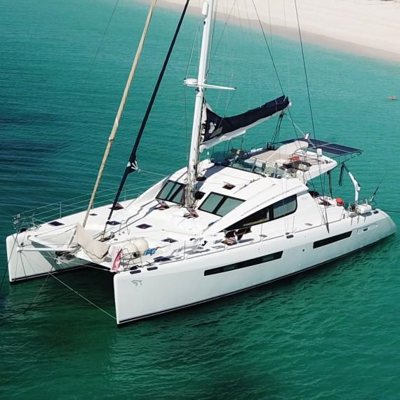 Trampoline for Privilège 615 catamaran