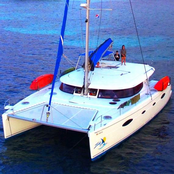 Trampoline for Salina 48 catamaran