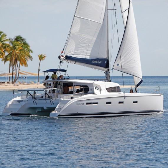 Trampoline for Nautitech 441 catamaran