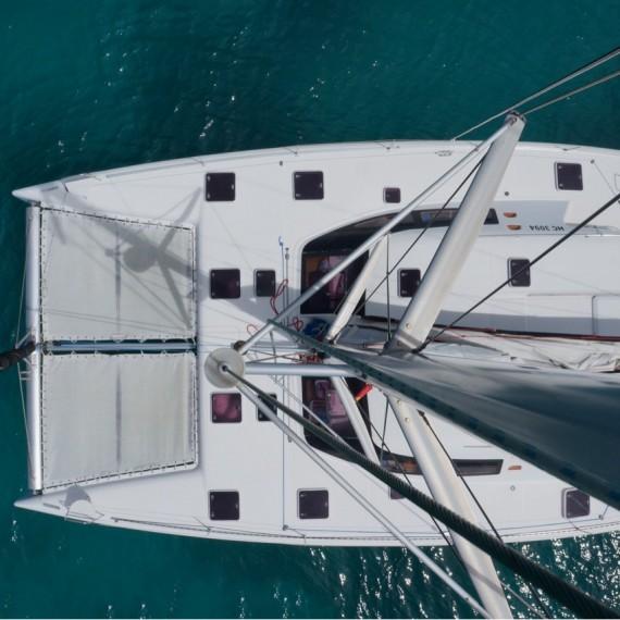 Trampoline for Nautitech 475 catamaran