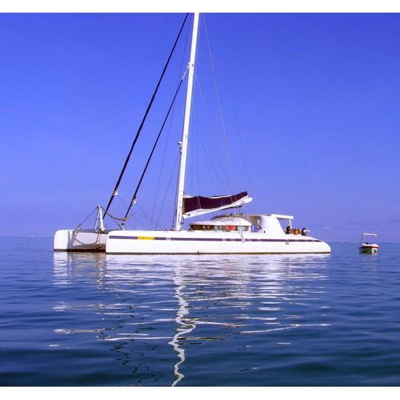 Trampoline for Nautitech 82 catamaran