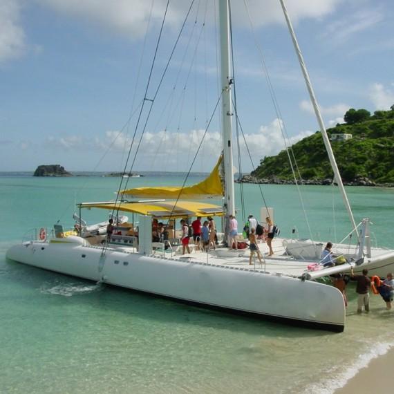 Trampoline for Ocean Voyager 58 catamaran