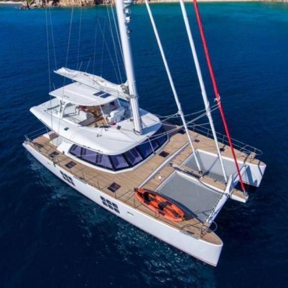 Trampoline for Sunreef 60 catamaran