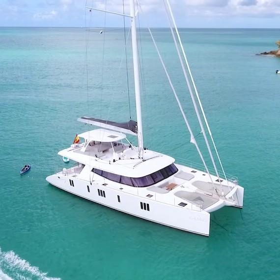 Trampoline for Sunreef 74 catamaran