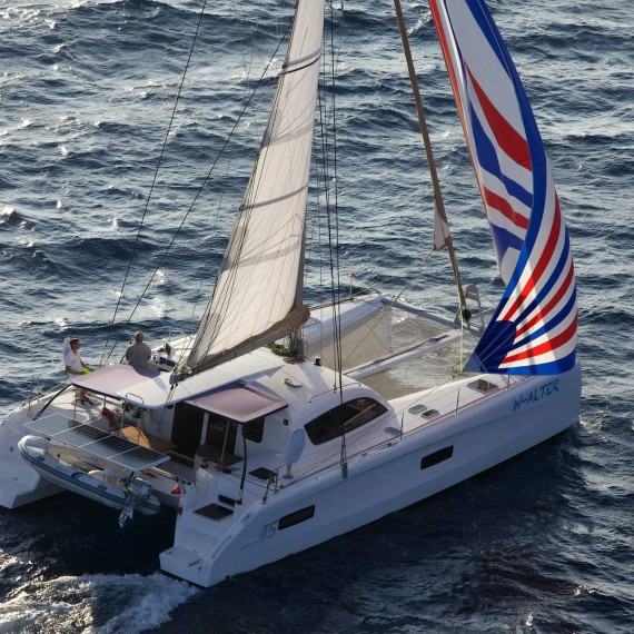 Trampoline for Outremer 45 catamaran