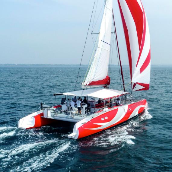 Trampoline for Ocean Voyager 53 catamaran