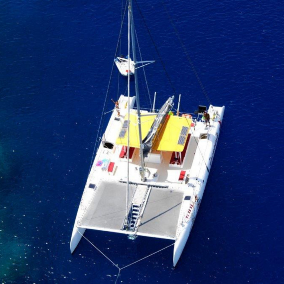 Trampoline for Ocean Voyager 64 catamaran
