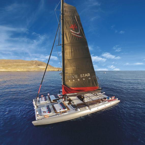 Trampoline for Ocean Voyager 78 catamaran