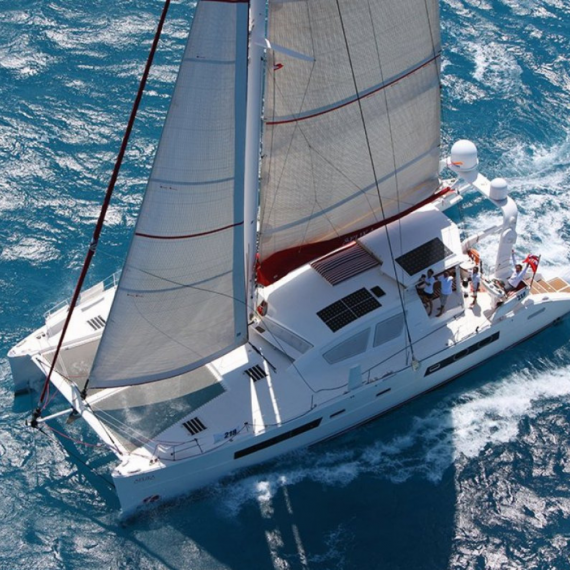 Trampoline for Catana 65 catamaran