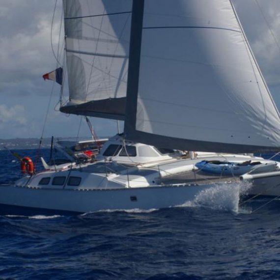 Trampoline for Outremer 40 catamaran