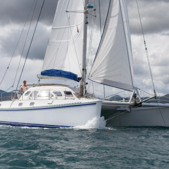 Trampoline for Outremer 50 catamaran
