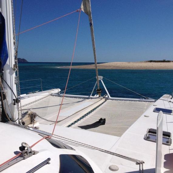 Trampoline for Outremer 55 catamaran