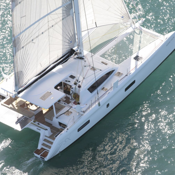 Trampoline for Outremer 5X catamaran