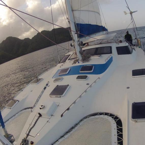 Trampoline for Privilège 39 catamaran