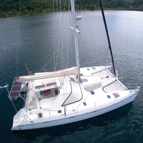 Trampoline for Privilège 43 catamaran