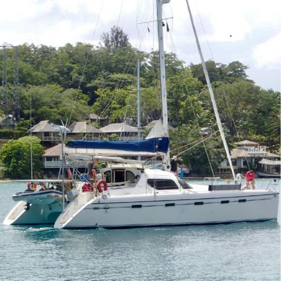 Trampoline for Privilège 435 catamaran