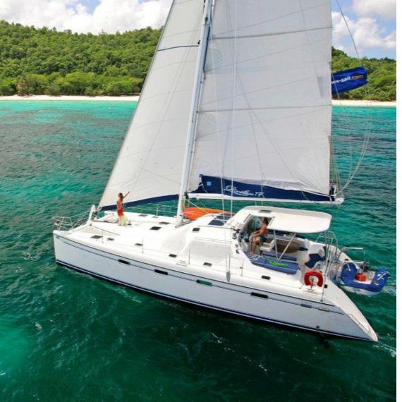 Trampoline for Privilège 445 catamaran