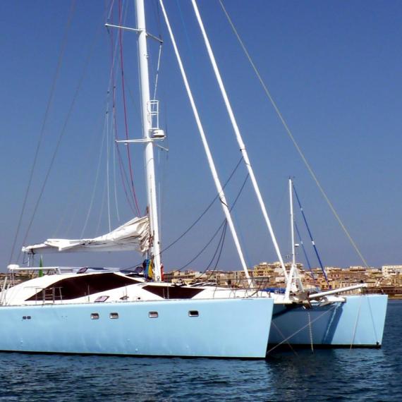 Trampoline for Privilège 65 catamaran