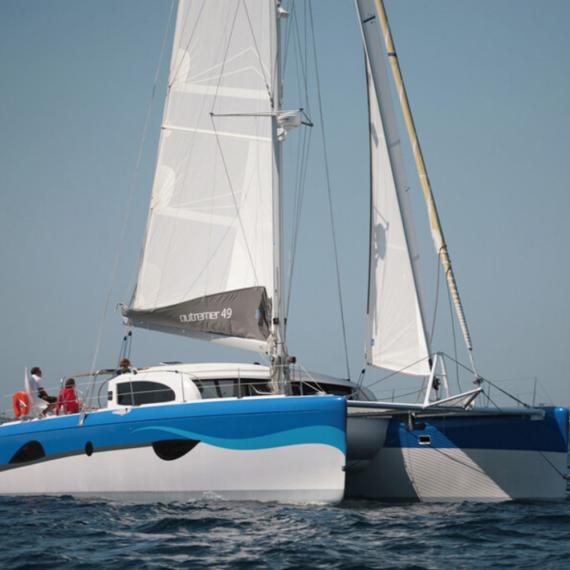Trampoline for Outremer 49 catamaran