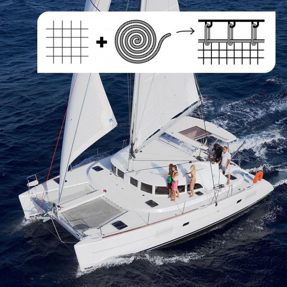 PACK Filet de trampoline - Lagoon 380 + cordage pour laçage indépendant (4mm)