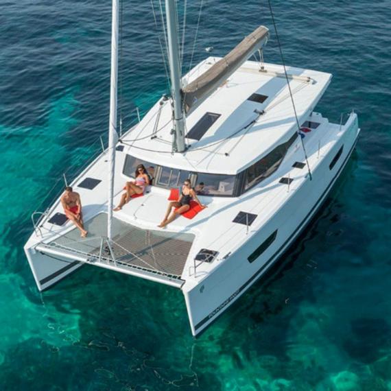 Trampoline for Lucia 40 catamaran