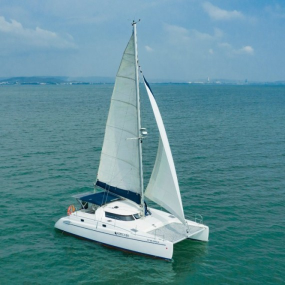 PACK Trampoline for Tobago 35 catamaran + the tension rope for independent lacing
