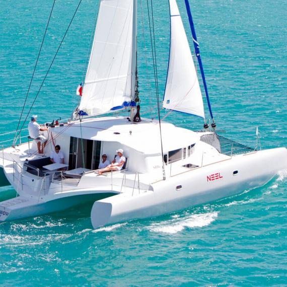 Trampoline for Neel 45 catamaran