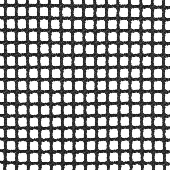 Wohnnetz aus geflochtenen Maschen 15 mm schwarz