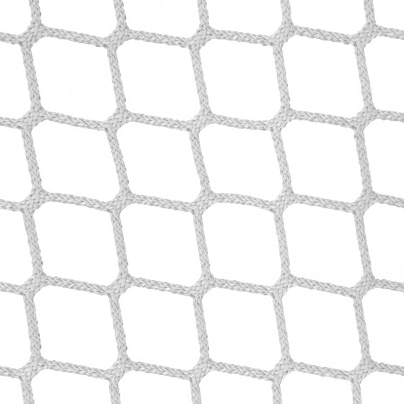 Filet d'habitation mailles tressées 45 mm blanc