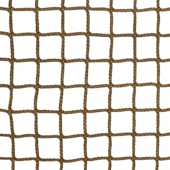 Wohnnetz aus geflochtenen Maschen 30 mm Kaffee