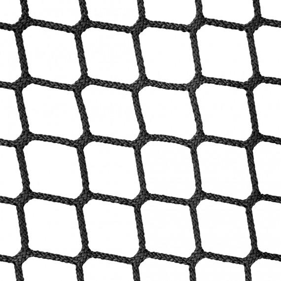 Wohnnetz aus geflochtenen Maschen 45 mm schwarz