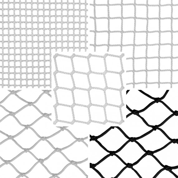 Hammock floor netting material samples