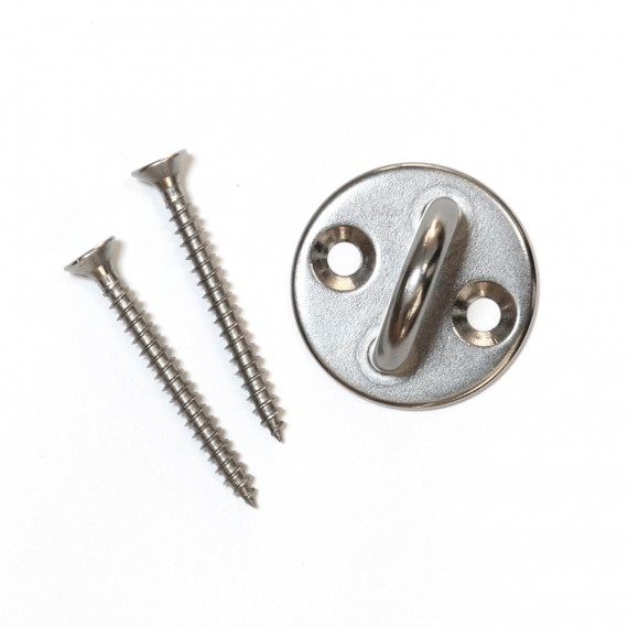 A4 stainless steel eye plate with screws