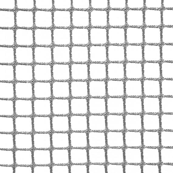 Wohnnetz aus geflochtenen Maschen 20 mm grau