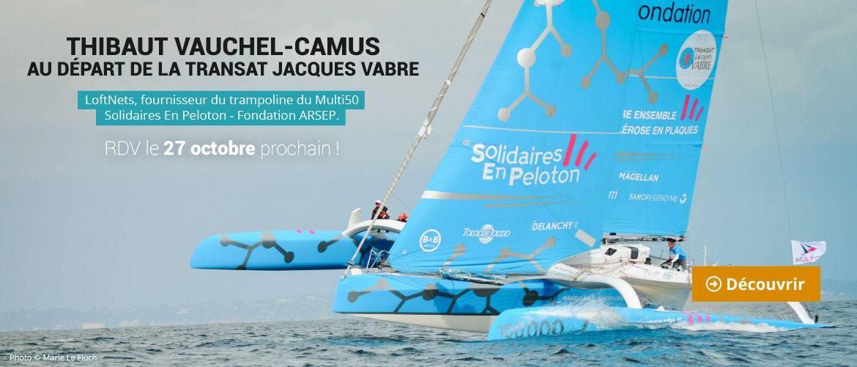 Thibaut Vauchel-Camus au départ de la Transat Jacques Vabre le 27 octobre !