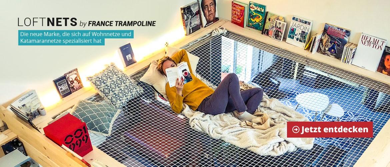 LoftNets by France Trampoline : die neue Marke, die sich auf Wohnnetze und Katamarannetze spezialisiert hat