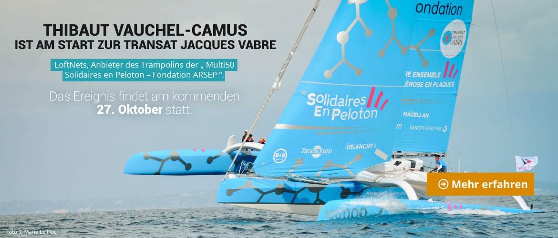 27. Oktober: Thibaut Vauchel-Camus ist am Start zur Transat Jacques Vabre.